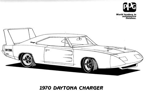 free coloring pages of 1970 charger