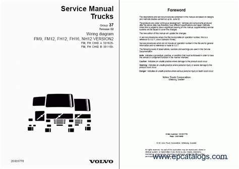 volvo fm7 9 10 12 fh12 16 nh12 wiring diagrams repair