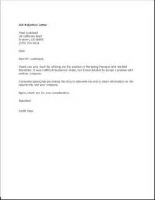 Rejection Email Template by Quote Letter Template Quotation Rejection Quote Letter