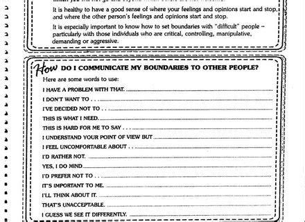 Setting Healthy Boundaries Worksheets by Boundaries Exploration Worksheet Therapist Aid Personal