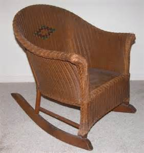 Vintage child s wicker rocking chair nr completed