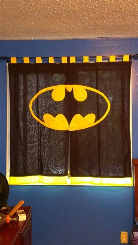 batman window curtains batman curtains for my sons new big boy batman bedroom