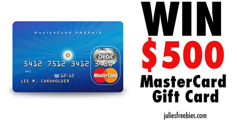 Win Gift Card - win a 500 mastercard gift card julie s freebies