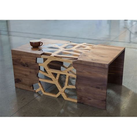 home wood design furniture now that is a coffee table handmade organic wood mosaic