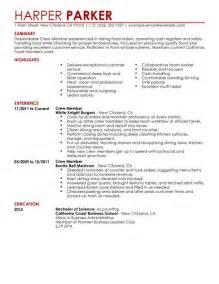 resume samples fast food cashier 1 fast food cashier resume