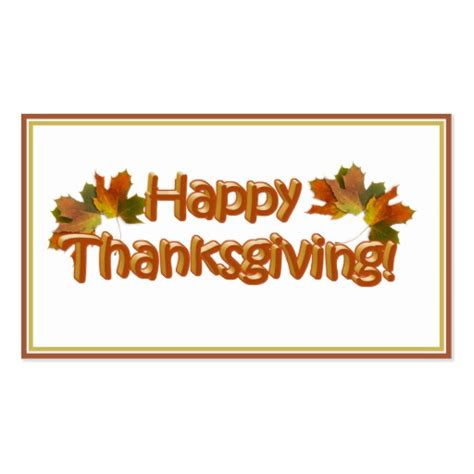 Happy Thanksgiving Card Printout Template by Fall Seasons Best Happy Thanksgiving Text Business Card