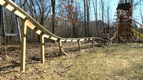 backyard wooden roller coaster need for speed wisconsin teens build backyard roller