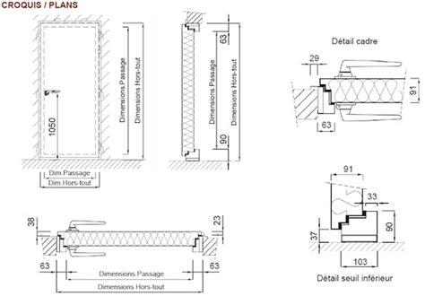 Dimension Porte De by Dimension Standard Porte Obasinc