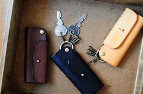 Handmade Key Holder - handmade mini leather key holder moda hombre