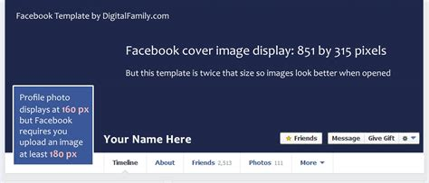 My Free Template Is Twice The Size Facebook Recommends Free Fb Cover Templates