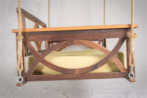 wooden swing bed 100 year old barn wood bed swing the porch companythe