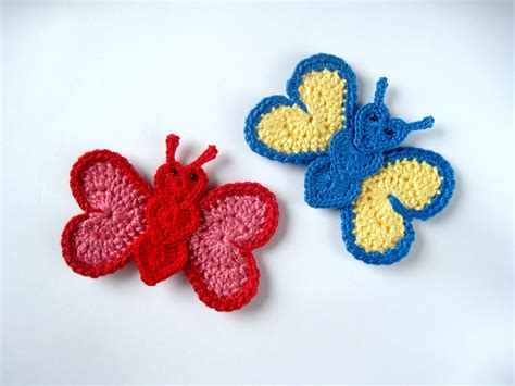 free applique crochet butterfly applique allfreecrochet