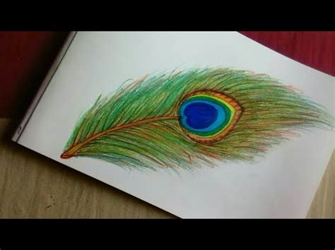 pretty peacock feather drawing creativefan how to draw beautiful peacock feather