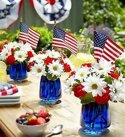 4th of july table centerpieces 12 easy patriotic centerpiece ideas cheap july 4th