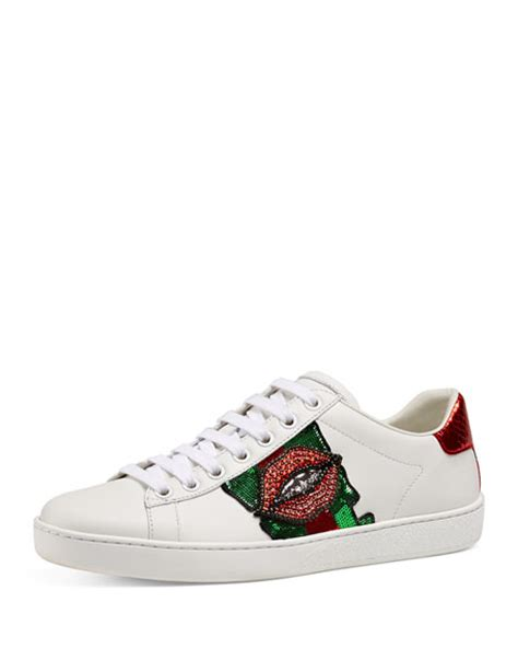 Bee Embroidery Platform Sneakers gucci new ace embroidered low top sneaker white neiman