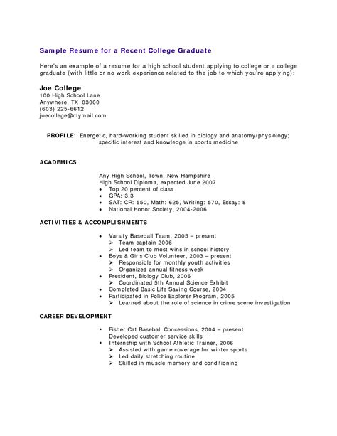 Work Experience Resume High School Student Resume With No Work Experience Resume Exles For High School Students With