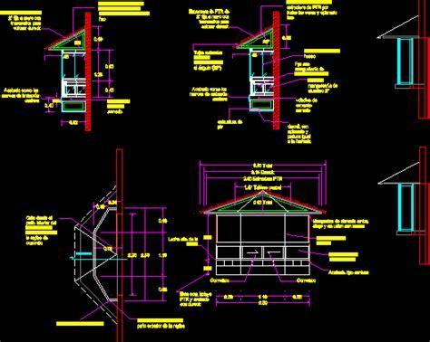 veranda dwg planos de casas planos de construccion