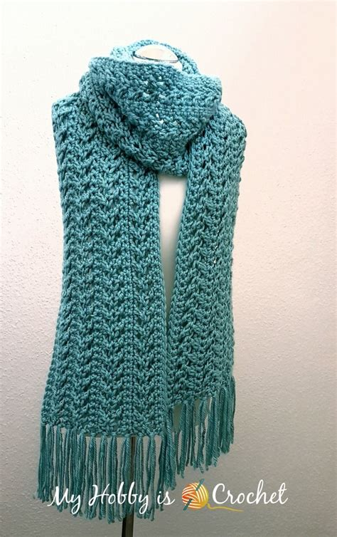 jennifer s scarf free crochet pattern from red heart yarns go with the flow super scarf free crochet pattern free