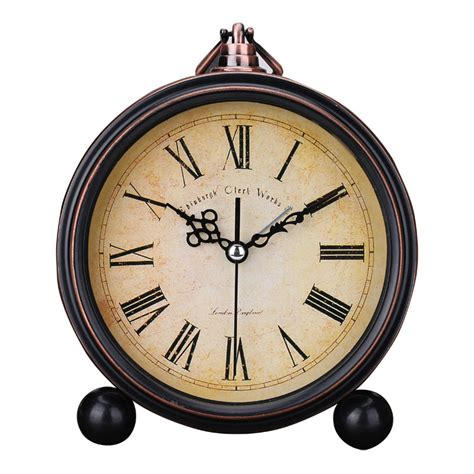 quality vintage alarm clock antique bedside up clock study room desk table clock home