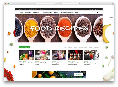 food websites 20 best themes for bakeries coffee shops 2018 colorlib