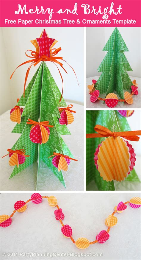 Printable Christmas Decorations Ideas | party planning center free printable paper christmas tree