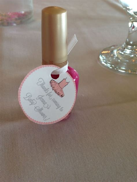 Nail Baby Shower Favor Poem by Nail Favors Tutu Themed Baby Shower