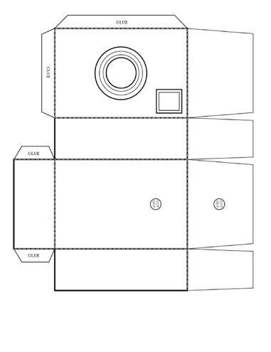 8 best images of 3d printable camera template printable