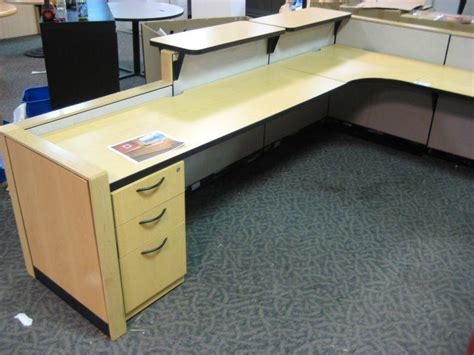 steelcase reception desk steelcase u shaped reception desk able auctions
