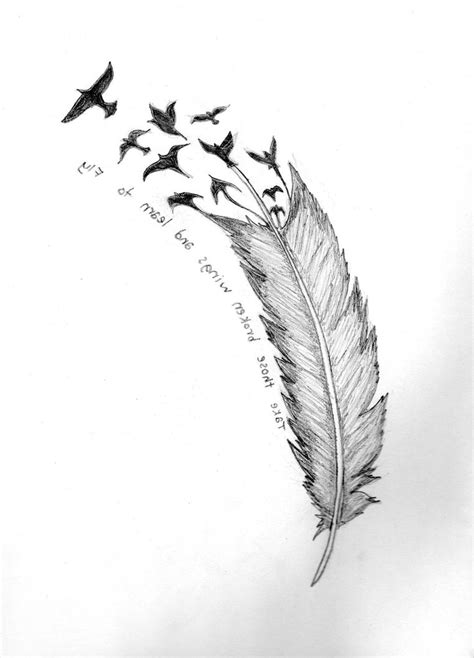 tattoo feather into birds meaning feather with birds tattoo meaning tattoo collections