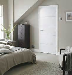Arts And Crafts Style Homes Interior Design by Horizontal 4 Lines Smooth White Primed Door