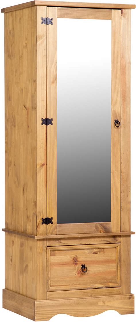 products corona armoire with mirrored door the home