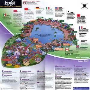map of epcot florida theme park brochures walt disney world epcot theme park