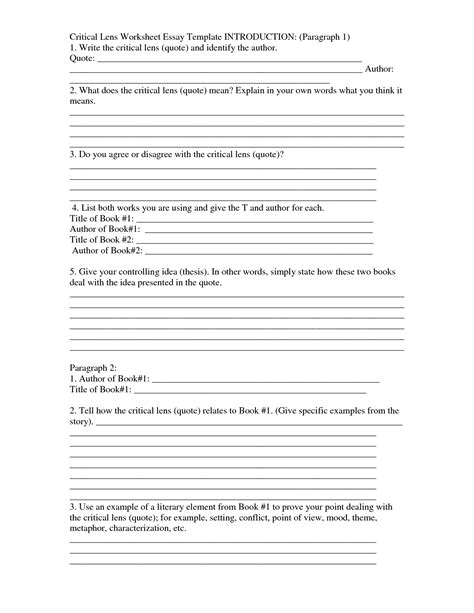paragraph writing template 15 best images of writing introduction paragraph worksheet