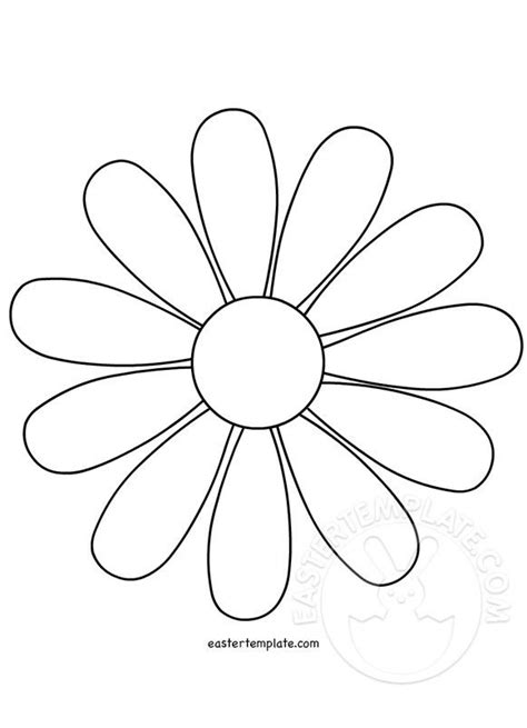 Template Of A Flower by Flower Outline Template Flower Template Easter