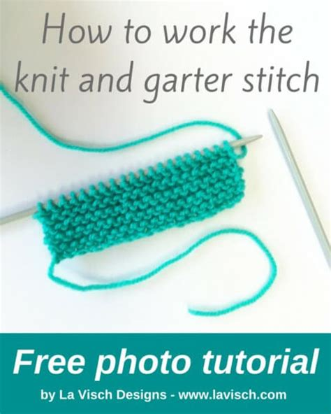 what is garter stitch in knitting terms how to work the knit and garter stitch la visch designs