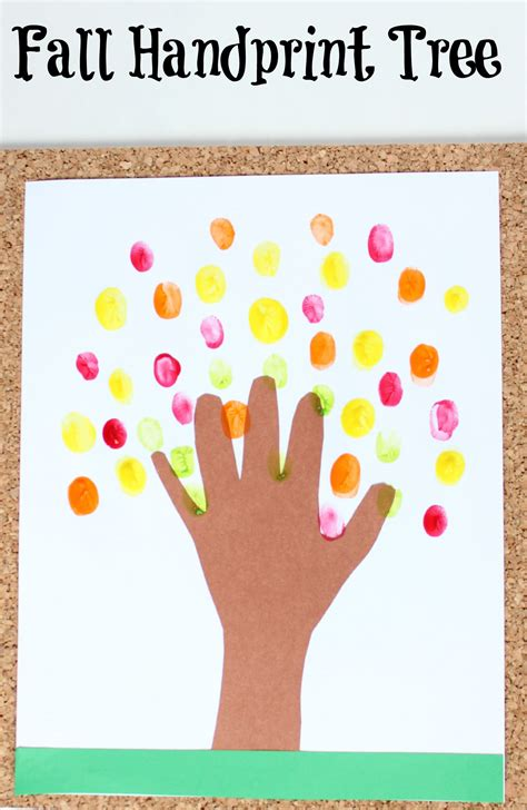 handprint tree craft fall handprint tree craft make and takes