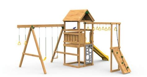 menards wooden swing sets playstar contender starter ready to assemble playset at