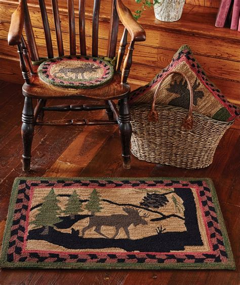 moose area rugs moose hooked area rug northwoods design center the log furniture store