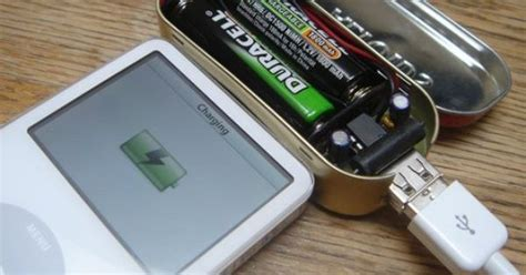 build your own usb charger diy mintyboost make your own battery powered ipod usb