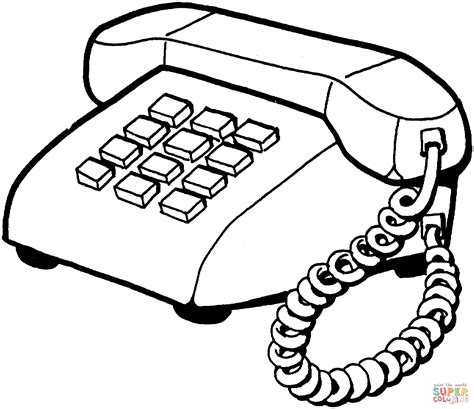 home telephone coloring page free printable coloring pages