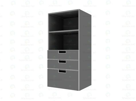 white bookcase with drawers 3d model ikea stuva bookcase with drawers white pink