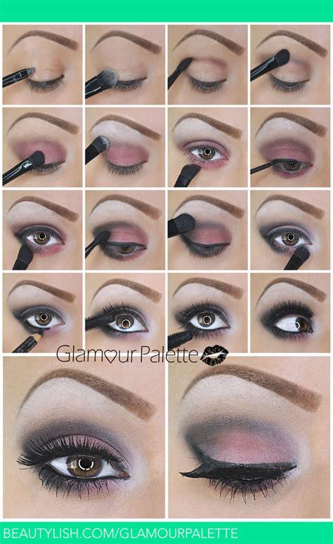 tutorial eyeshadow wardah seri l how to pinky red smoky eyes glamourpalette x s