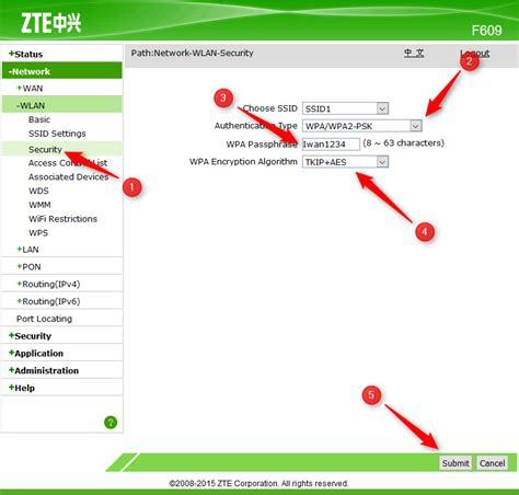 Modem Fiber Optik Zte Zxhn F609 cara lengkap setting modem zte f609 indihome fiber iwan berbagi