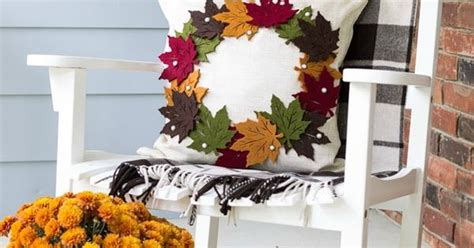 autumn decorating inspiration from pottery barn nancyc make this diy pottery barn inspired fall wreath pillow for