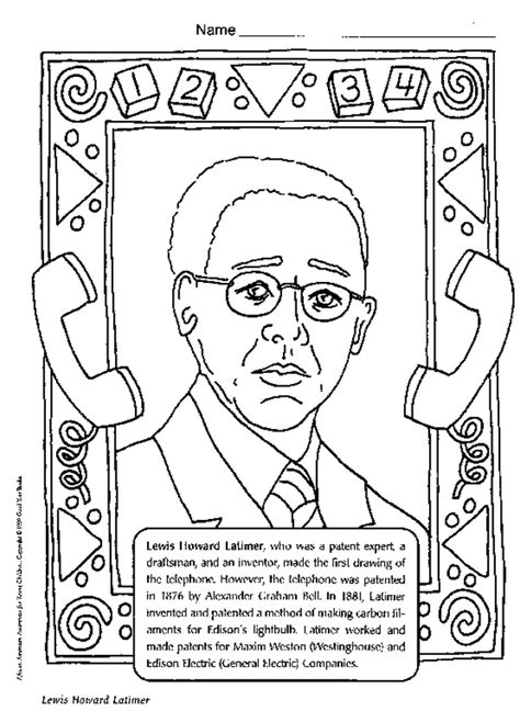 famous african americans coloring pages az coloring pages
