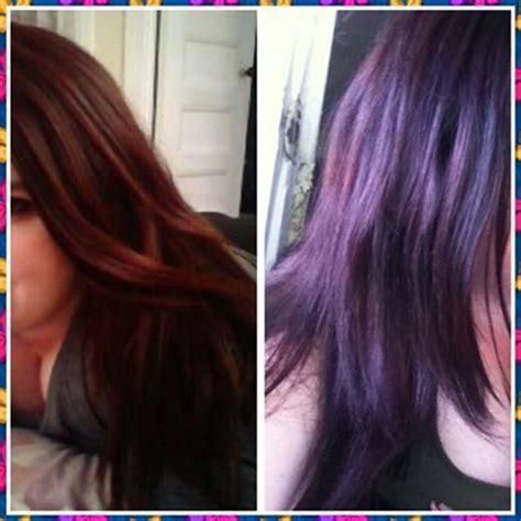 deep velvet violet hair dye african america vidal sassoon velvet violet results photo before