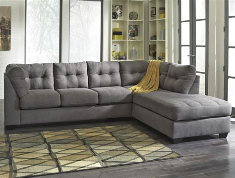 Benchcraft Sectional by Benchcraft Maier Charcoal 2 Sectional With Right