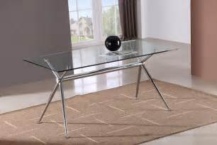 Dining Table Modern Glass Top Marengo X Base Design Rectangular Dining Table With Glass