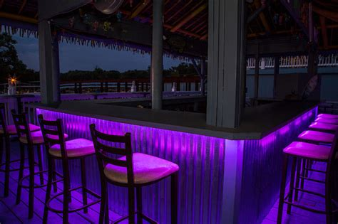 colored led light bar led outdoor bar lighting tropical patio st louis