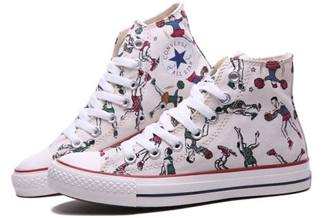 white pattern converse material well high tops converse play basketball pattern
